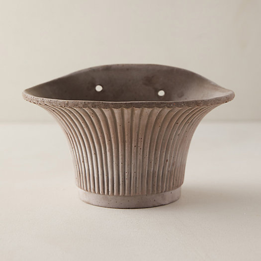 View larger image of Bergs Fluted Hanging Wall Pot, Gray