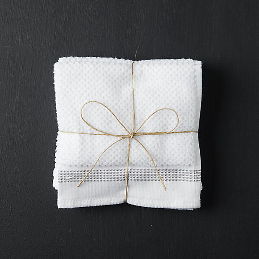 View larger image of Organic Cotton Wash Cloths, Set of 3