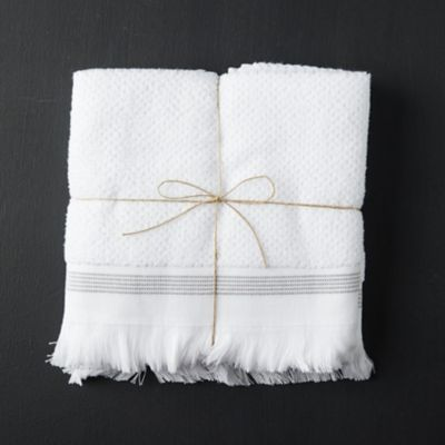 Organic Cotton Hand Towels, Set of 2