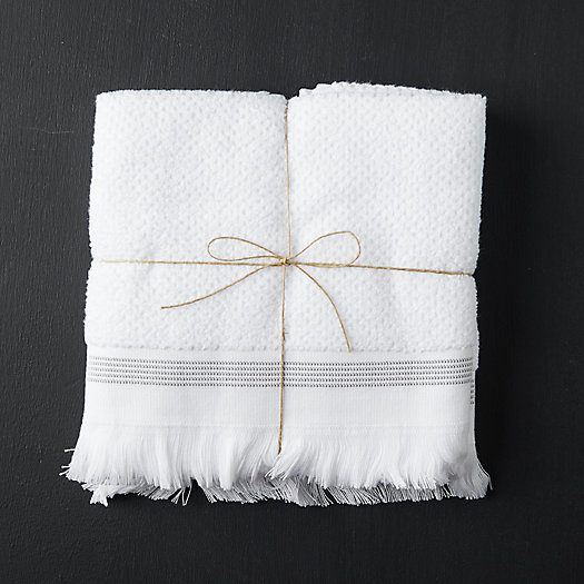 View larger image of Organic Cotton Hand Towels, Set of 2