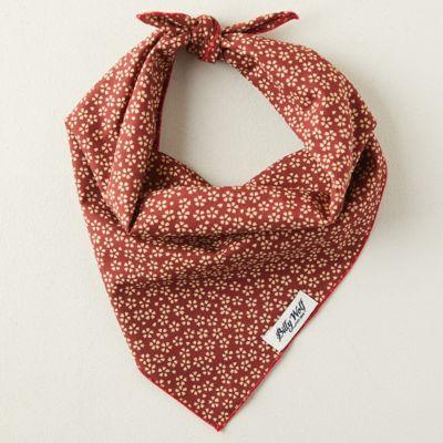 Cotton Pet Bandana, Red Floral