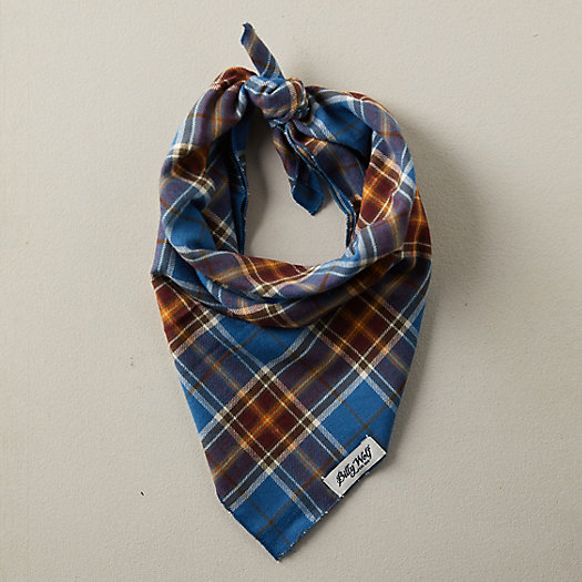 View larger image of Cotton Pet Bandana, Blue Plaid