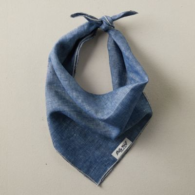 Linen + Flax Pet Bandana, Blue
