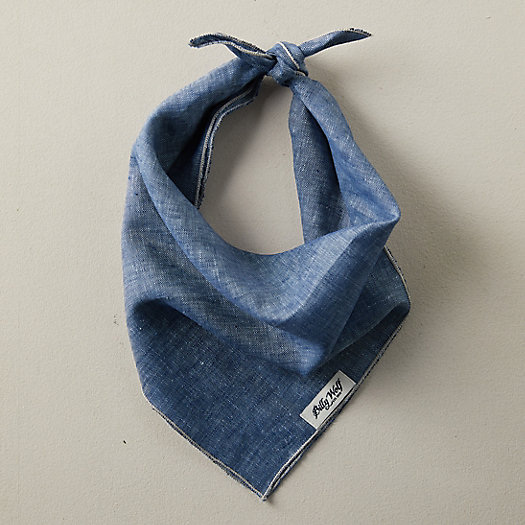 View larger image of Linen + Flax Pet Bandana, Blue
