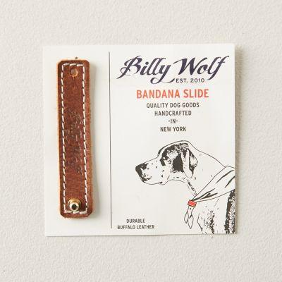 Leather Pet Bandana Slide