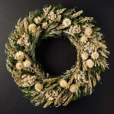 Snowy Harvest Preserved Wreath