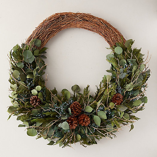 View larger image of Preserved Silver Dollar Eucalyptus + Juniper Wreath