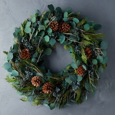 Preserved Homestead Greenery Wreath