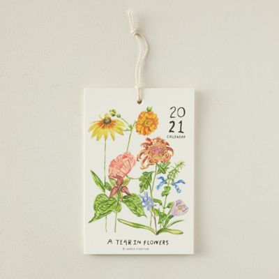 A Year in Flowers 2021 Calendar