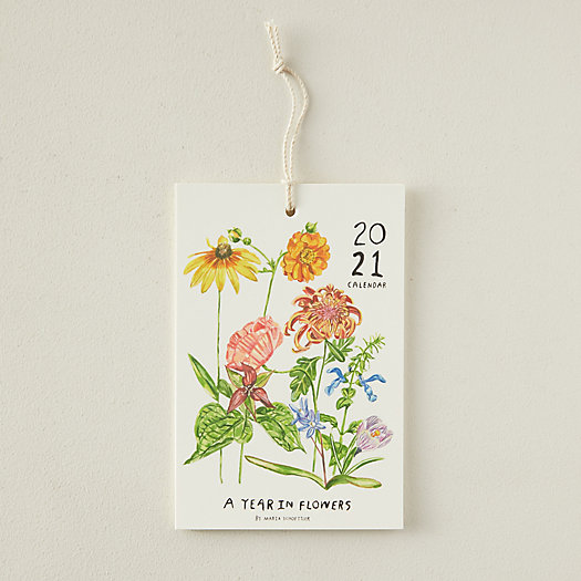 View larger image of A Year in Flowers 2021 Calendar