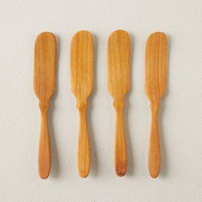 Teak Butter Knives, Set of 4