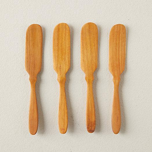 View larger image of Teak Butter Knives, Set of 4