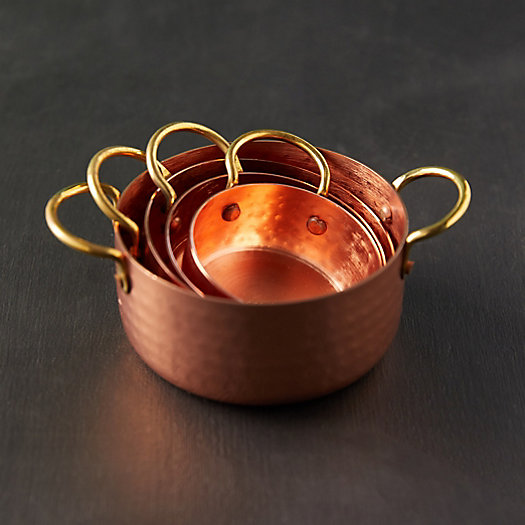 View larger image of Copper + Gold Measuring Cups
