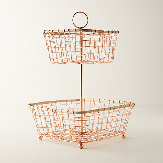 View larger image of Copper Wire Two-Tier Stand