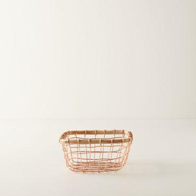 Copper Wire Basket, Small