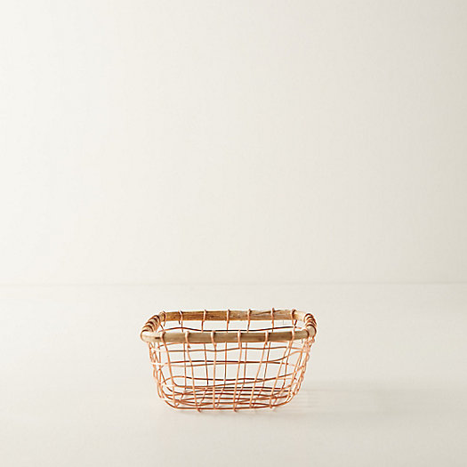 View larger image of Copper Wire Basket, Small