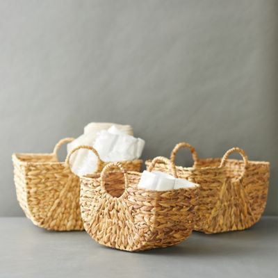 Woven Two Handle Basket