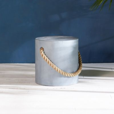 Rope Concrete Stool, Round