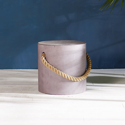View larger image of Rope Concrete Stool, Round