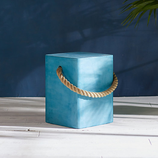 View larger image of Rope Concrete Stool, Square