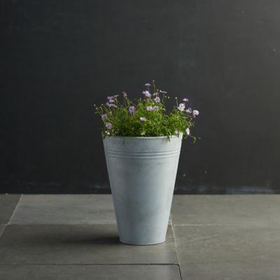 "Zinc Flower Bucket, 11"""