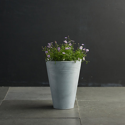 View larger image of Zinc Flower Bucket, 11""