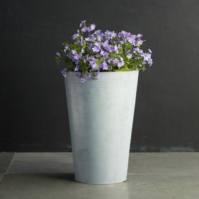 "Zinc Flower Bucket, 15"""
