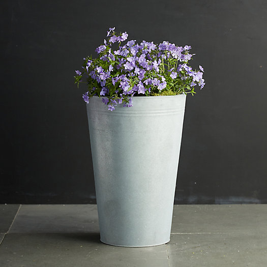 View larger image of Zinc Flower Bucket, 15""