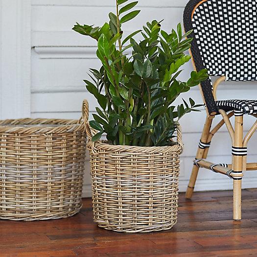 "View larger image of Rattan Handle Basket Pot, 13"""