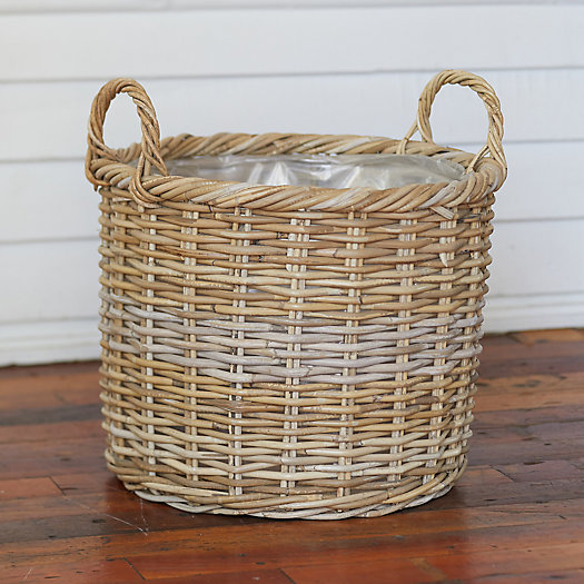"View larger image of Rattan Handle Basket Pot, 17"""