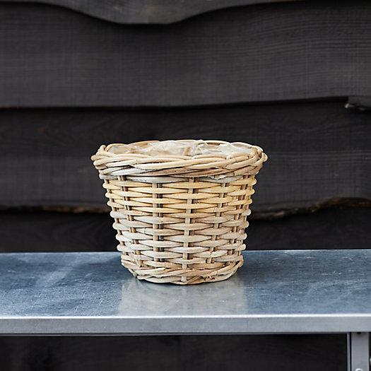 "View larger image of Rattan Taper Basket Pot, 9"""