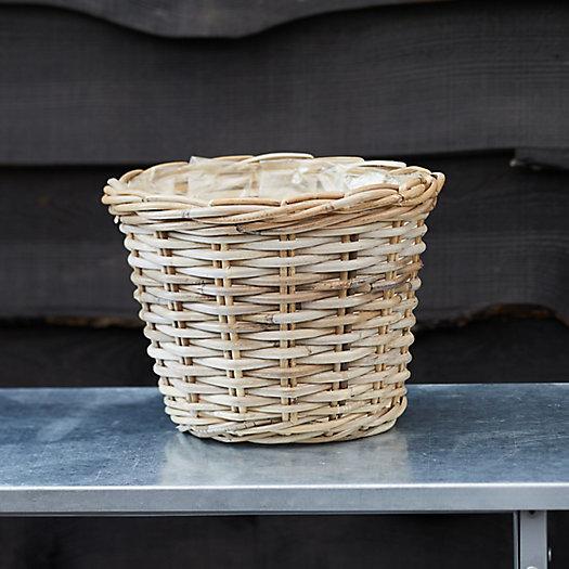 "View larger image of Rattan Taper Basket Pot, 11"""