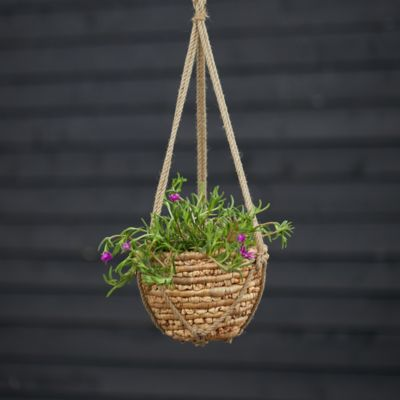 Woven Hanging Basket Pot, Natural 10""