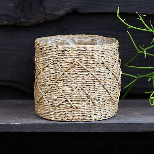 """View larger image of Geo Seagrass Basket Pot, 7"""""""