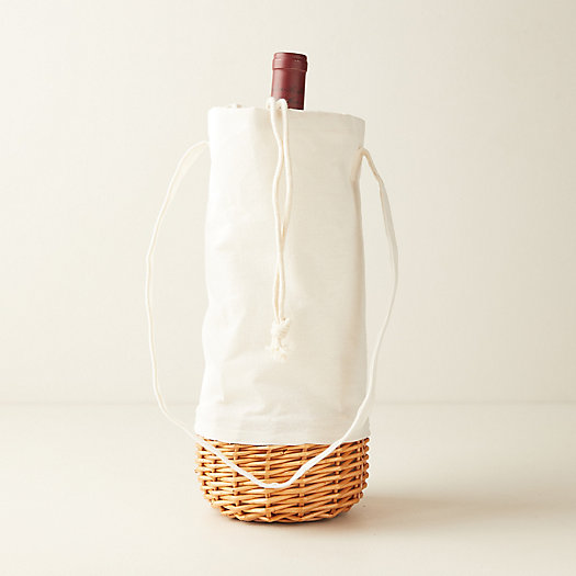View larger image of Insulated Canvas + Willow Wine Carrier