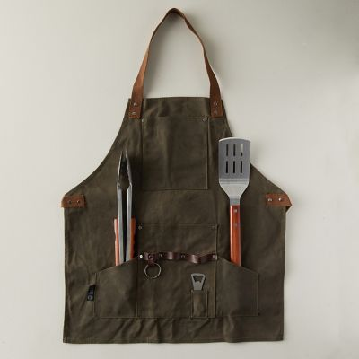 Barbecue Apron with Tools