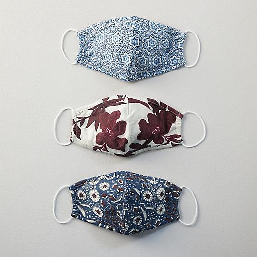 View larger image of Reusable Organic Cotton Face Masks, Set of 3