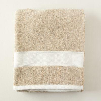 Linen Cotton Blend Bath Sheet, Extra Large