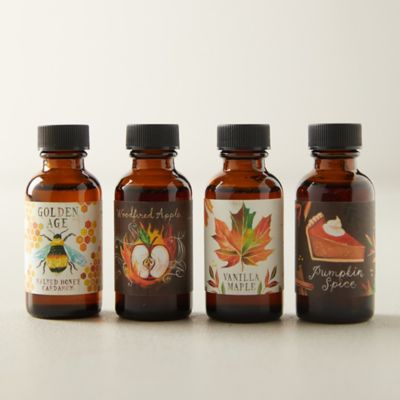 Autumn Simple Syrups, Set of 4