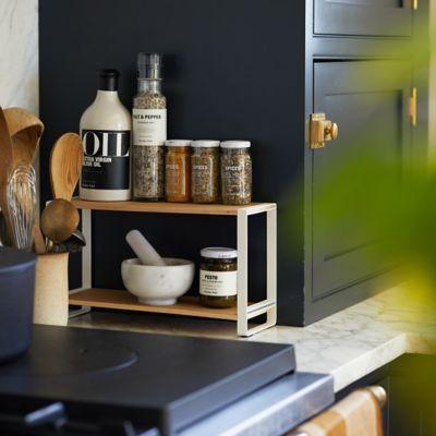 Wood + Steel Tabletop Shelf
