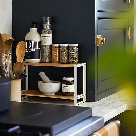 View larger image of Wood + Steel Tabletop Shelf