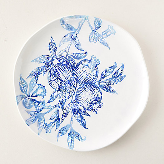 View larger image of Blue Pomegranate Serving Platter, Round