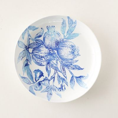 Blue Pomegranate Serving Bowl, Low
