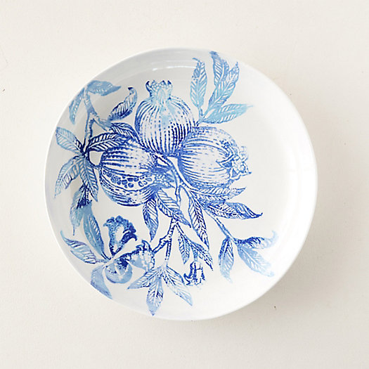 View larger image of Blue Pomegranate Serving Bowl, Low