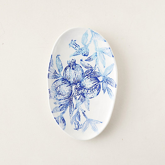 View larger image of Blue Pomegranate Platter, Small Oval