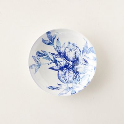 Blue Pomegranate Serving Bowl, Medium
