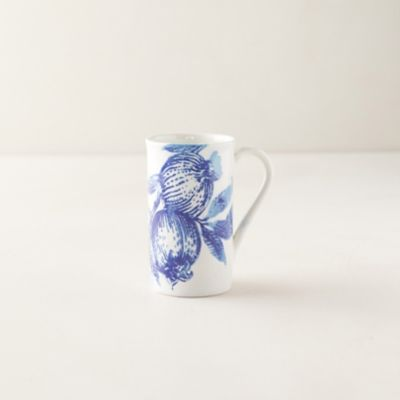 Blue Pomegranate Tall Mug