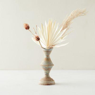 Aged Iron Column Bud Vase