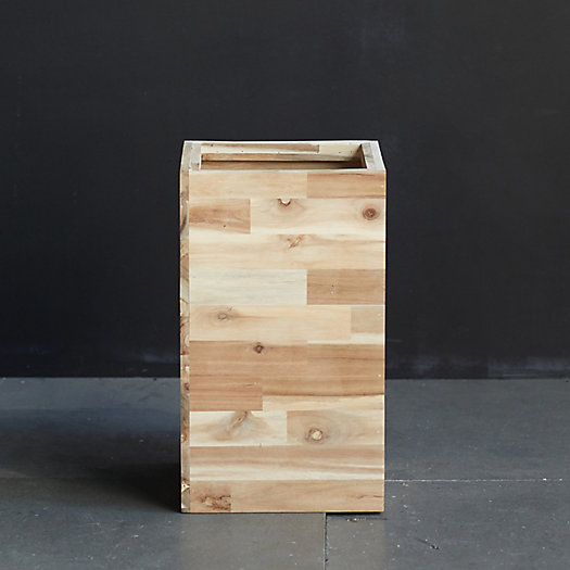 """View larger image of Square Wood Planter, 11"""""""