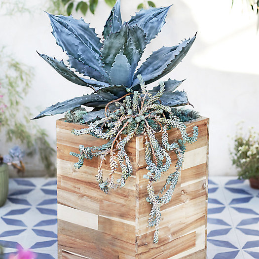 """View larger image of Square Wood Planter, 13.5"""""""